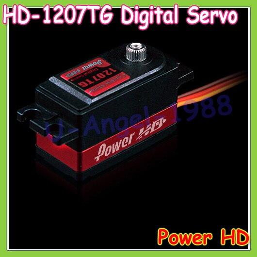 Wholesale 1pcs 100% Original Power HD HD-1207TG Standard Low Profile Digital Coreless High Speed Servo mpx010 high speed 18000rpm coreless motors silver dc 3v 2 pcs
