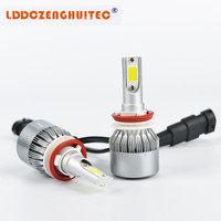 LDDCZENGHUITEC C6 LED Car Headlight All In One AUTO BULB H1 H3 H7 H11 H4 H13