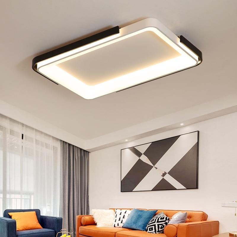 New Acrylic Dimming Ceiling Lights For Living StudyRoom Bedroom Home Dec plafonnier AC85 265V Modern Led