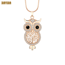 Tree of Life Owl Choker Necklace for Women Rose Gold Crystal Cute Owl Round Pendant Necklace Exquisite Torque Trinket Mom Gift цена 2017
