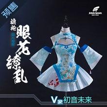 Japan Anime VOCALOID SweetDevil Miku Yanhe Kagamine Rin Yowane Haku Megurine  Luka Qipao Chinese Stye Dress Cosplay Costume S M L e1568ef087a9
