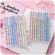 4 set/Lot Flamingo & Unicorn 10 color gel pen Cute flower and animal ballpoint for writing Stationery School supplies FB450