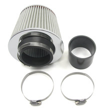 """Universal Car Air Intake Tubes Aluminum Pipe 3"""" Diameter Cold Air Injection Intake System with Air Filter Kit"""