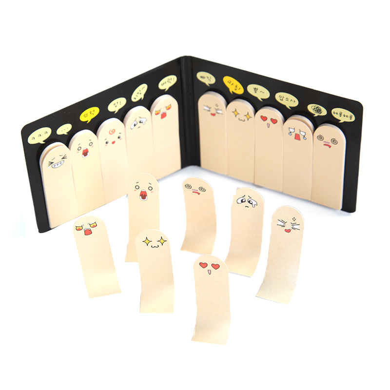купить Cute Creative Finger Memo Pad Sticky Notes Kawaii Paper Sticker Papeleria Stationery Office School Supplies онлайн