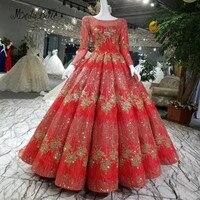 Modabelleยาวเลื่อมทองสีแดงชุดราตรีหรูหราสง่างามบอลชุดA Bitoดาซีรั่มผู้หญิงอย่าง