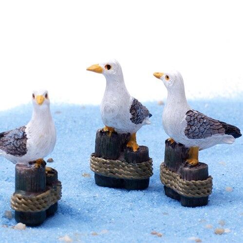 Artificielle kawaii oiseaux mouette f e jardin miniatures Figurine pour jardin