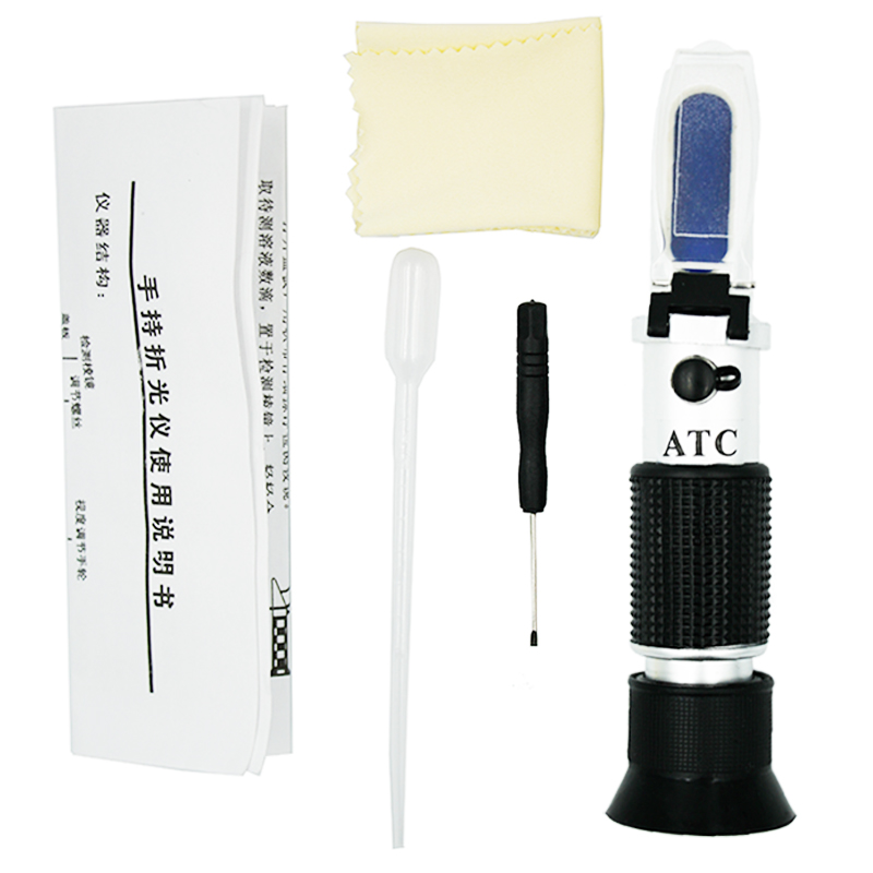 New arrival 4 in 1 Hand Held Car Refractometer Vehicle Urea Tester 30-35% Adblue Fluid Glycol Battery Antifreeze with ATC 40%off portable antifreeze refractometer