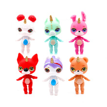 6pcs Poopsie Unicorn Dash horse model Ac