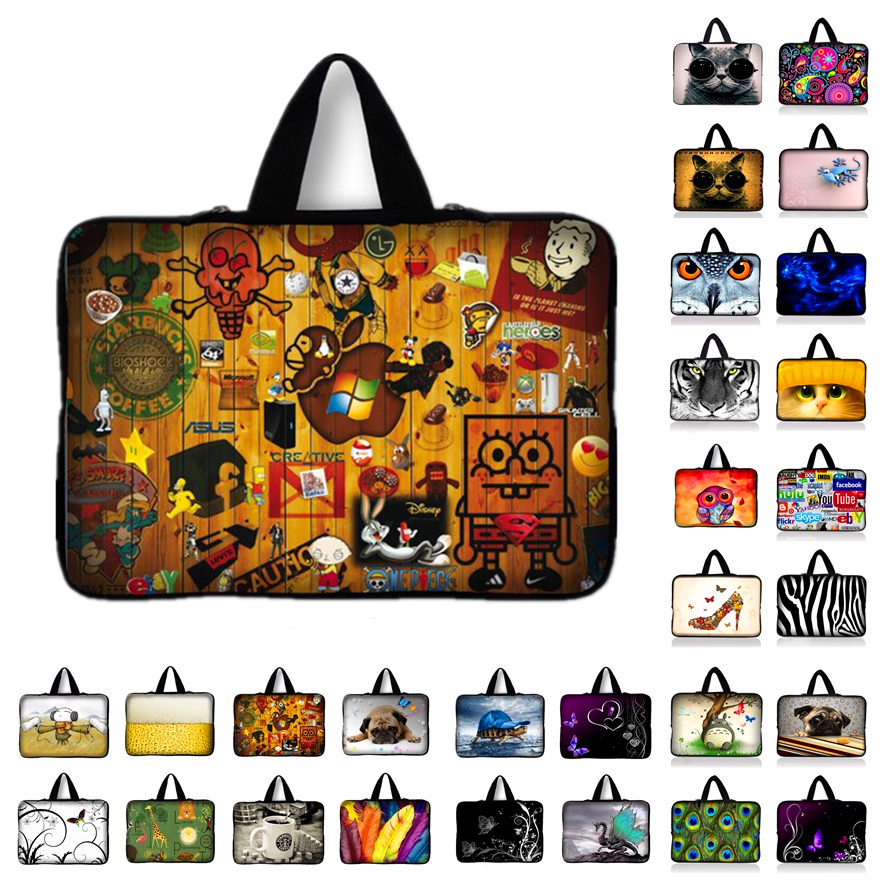 10.1 12 13.3 14.4 15.4 15.6 17.3 inch Handle Laptop Sleeve Bag Notebook Smart Cover Case PC Handbag For Macbook Air/Pro/Retina N