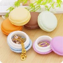 2016 New 4 Color Mini Macarons Box For Jewelry Earring Ring Outing Storage Boxes(China)