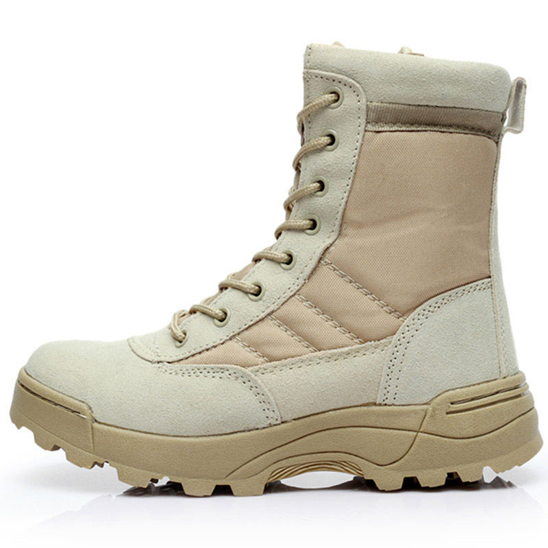 Men Boots 2019 Wholesale Men Shoes Plus Size Outdoor Breathable Hard-wearing Nonslip Military Boots New Style Work Safety Boot