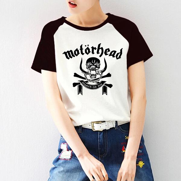 Unisex Suelta Carta de Motorhead Verano Mujeres PVC Impresión de la Letra T-shirt Harajuku Femenina Impresa Manga Raglán Camiseta de Metales Pesados