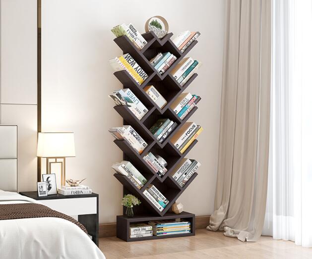 150 CM Boom Vorm Boek Plank Studeerkamer Boekenkast Hout Opbergrek - 2