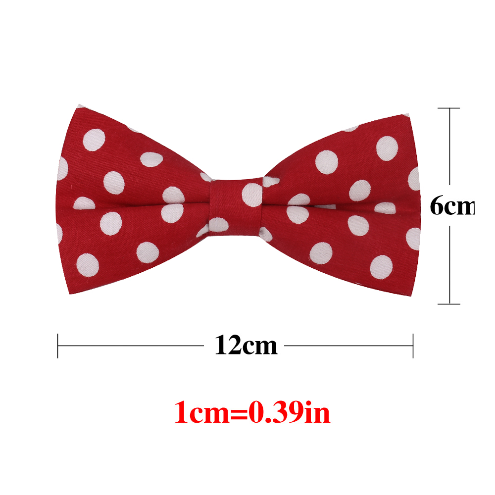 100 Cotton Men Bowtie Casual Shirts Bow tie For Men Bowknot Adult Dot Print Bow Ties Cravats Wedding Butterfly Yellow Bowties in Men 39 s Ties amp Handkerchiefs from Apparel Accessories