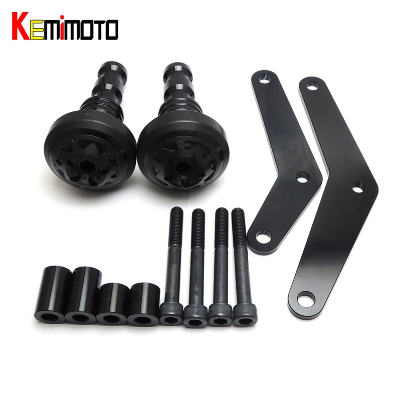 KEMiMOTO For Yamaha YZF R25 R3 YZF-R3 YZF-R25 2014 2015 2016 2017 MT-03 MT03 MT25 2015- Moto Crash Pads Frame Protector Sliders for yamaha mt 03 2015 2016 mt 25 2015 2016 mobile phone navigation bracket