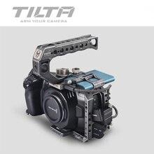 TILTA BMPCC 4K 6K Full CAGE TA T01 B ยุทธวิธี Fininshed/สีเทาไดรฟ์ SSD ผู้ถือที่จับด้านบน blackmagic BMPCC 4K 6K