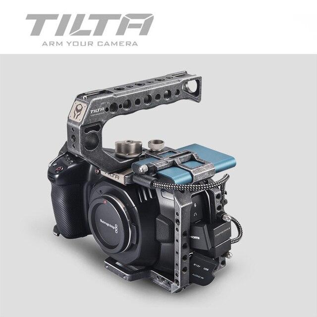 Tilta bmpcc 4 18k 6 18k カメラフルケージ TA T01 B 戦術 fininshed/グレー ssd ドライブホルダー用トップハンドル blackmagic bmpcc 4 18k 6 18k