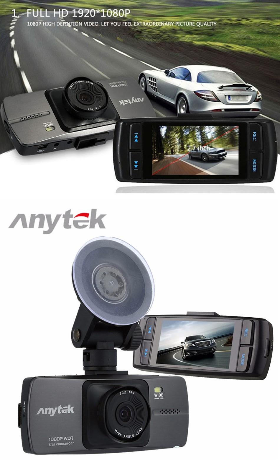 Anytek Dash Cam A88 2.7 Inch DVR Full HD 1080P Car Camera Novatek 96220 Parking Monitor Registrator Video Recorder Night Vision DVRS -01