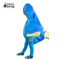 Kids Finding Dory Costume Blue Fish Dress Up Mascot Costume Baby Romper Totterring Toddlers Halloween Costume For Kids Jumpsuit