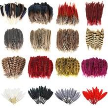 10 шт./лот, супер красивый натуральный фазан, перо, ювелирные изделия, гусиные Плюмы, одежда, шляпа, сделай сам, veren decoratie, карнавальные, вечерние, Шлейфы