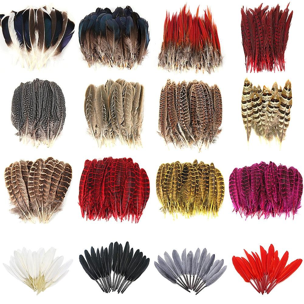 10pcs/lot Super Beautiful Natural Pheasant Feather jewelry Goose plumas clothes hat DIY veren decoratie Carnival Party plumes
