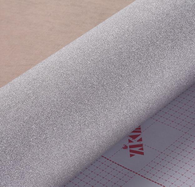Autocollant autocollant de papier peint auto-adhésif   Paillettes argentées, papel de paréo de décor en vinyle, papier adhésif pour meubles