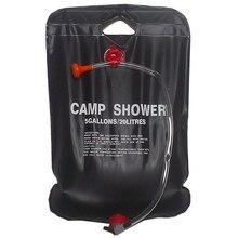 Solar Shower Camp Shower Bag 20 liters black цена