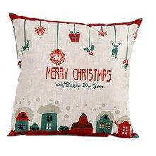 Funda de almohada Vintage navideña de alta calidad para dormitorio o sala de estar de Santa Claus, funda de almohada para el hogar, envío directo June25