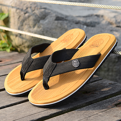 Men Flip-Flops Beach-Slippers Shoes-Size Yellow Black Outdoor Bright-Coloured Summer