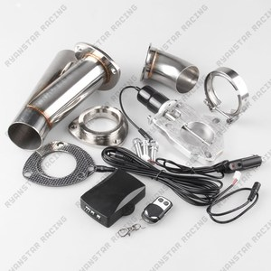 """Image 5 - 2"""" or 2.25"""" or 2.5"""" or 3""""  Electric Stainless Exhaust Cutout Cut Out Dump Valve/switch with Remote control TP024A+TP022A"""