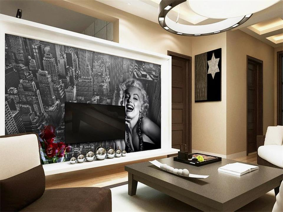 Captivating Wallpaper Photo Custom Mural Living Room New York Part 17