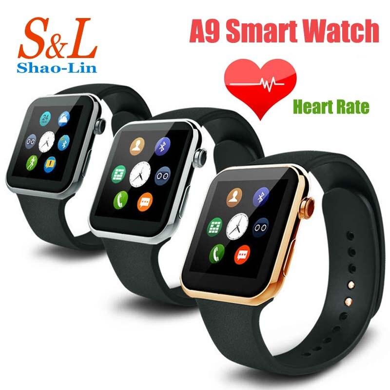 A9 Smartwatch Wristwatch Bluetooth font b Smart b font Watch for Apple iPhone 5 5S 6