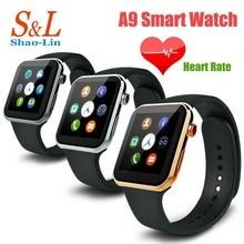 A9 smartwatch reloj bluetooth reloj inteligente para apple iphone 5 5s 6 plus samsung htc huawei android reloj teléfono inteligente