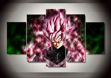 Multiple choices 5 Panels Wall Art Dragon Ball Z Canvas Paintings Poster-Unframed (20 styles)