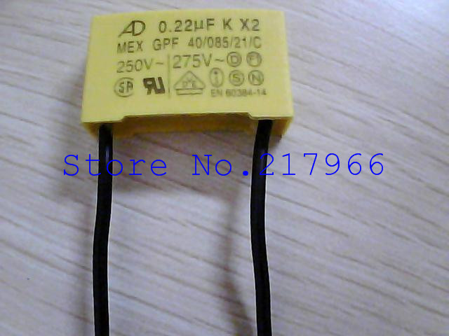 50PCS X ,Manufacturers Lead AD  275V 0.1uf 0.22UF K X2 Safety Capacitors 224