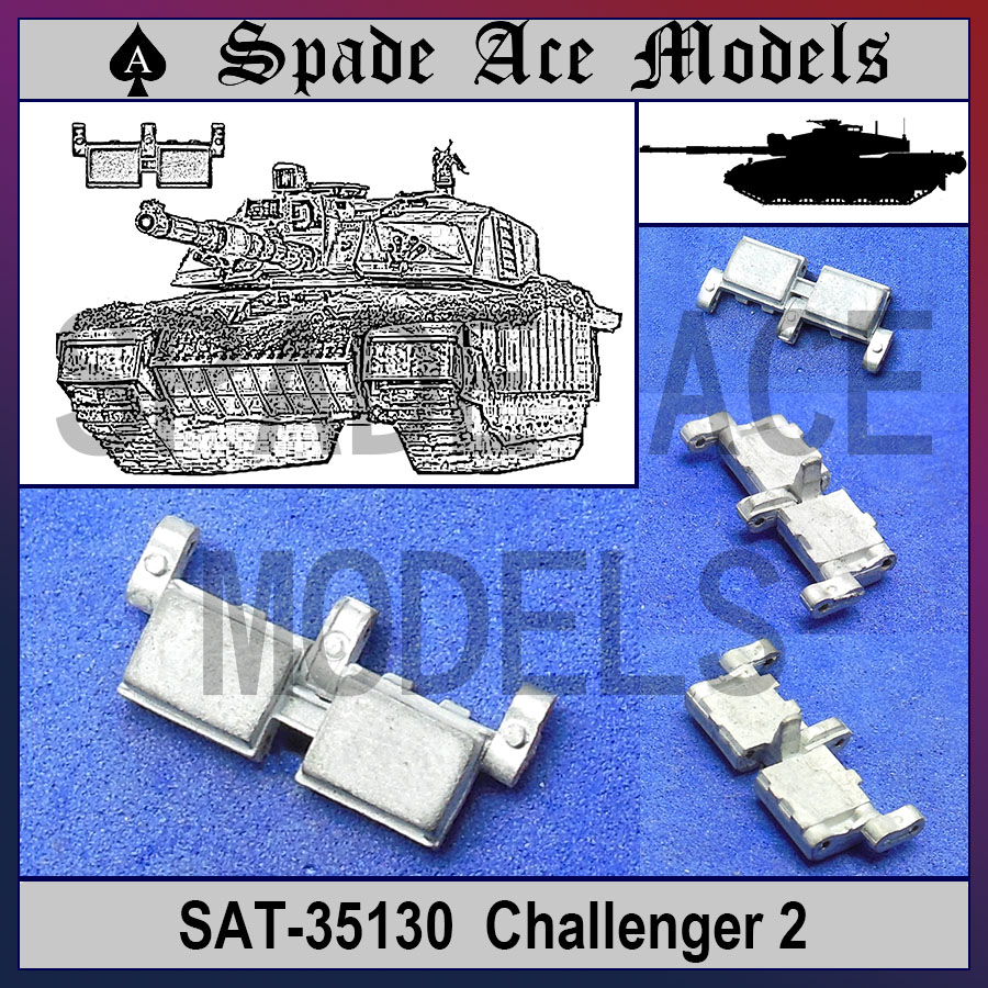 ФОТО Spade Ace 1/35 35130 Metal Track Challenger 2