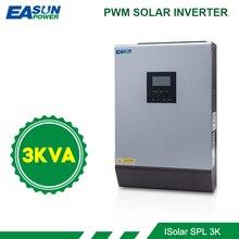 Источник питания Easun солнечный инвертор 3KVA 24V 220V Гибридный Инвертор Чистая синусоида встроенный 50A PWM солнечный контроллер заряда зарядное устройство