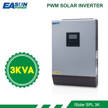 EASUN محول طاقة شمسية 3KVA 24 فولت 220 فولت الهجين العاكس موجة جيبية نقية المدمج في 50A PWM الشمسية جهاز التحكم في الشحن شاحن بطارية