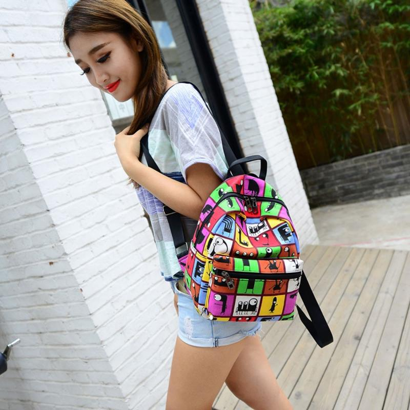 Xiniu Women Backpacks Canvas Printing Girl Travel Small Backpacks Teenager School Backpack Rucksack Bolsas mochila feminina#YH