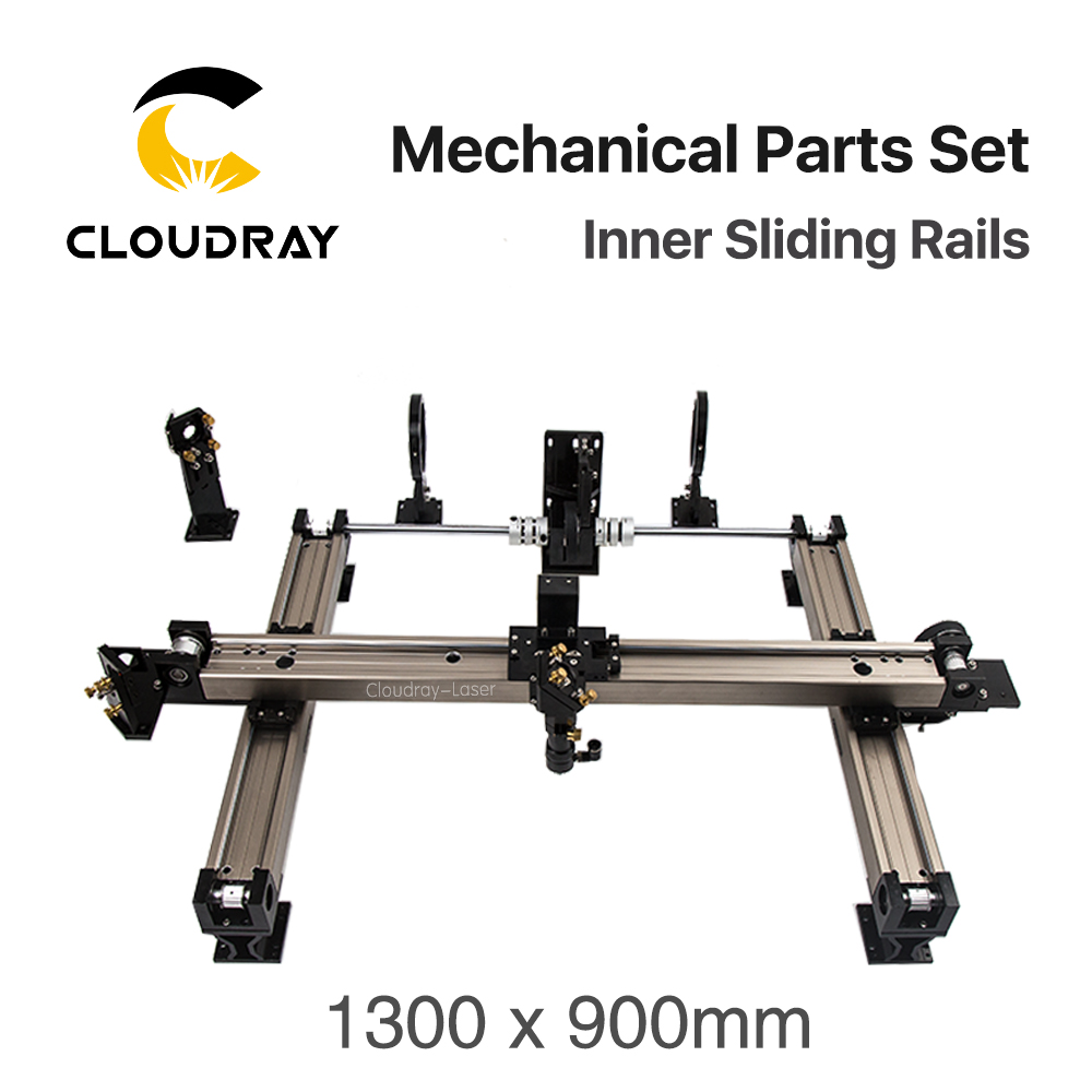 цена на Cloudray Mechanical Parts Set 1300*900mm Inner Sliding Rails Kits Spare Parts for DIY 6090 CO2 Laser Engraving Cutting Machine
