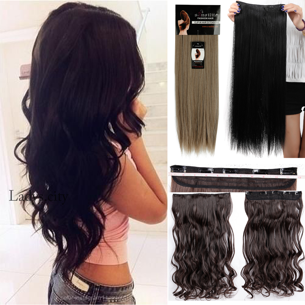 Online shop 40colors clip in hair extensions 60cm 24inch 5clips online shop 40colors clip in hair extensions 60cm 24inch 5clips long curly heat resistant synthetic hair piece natural hair extension aig aliexpress pmusecretfo Gallery