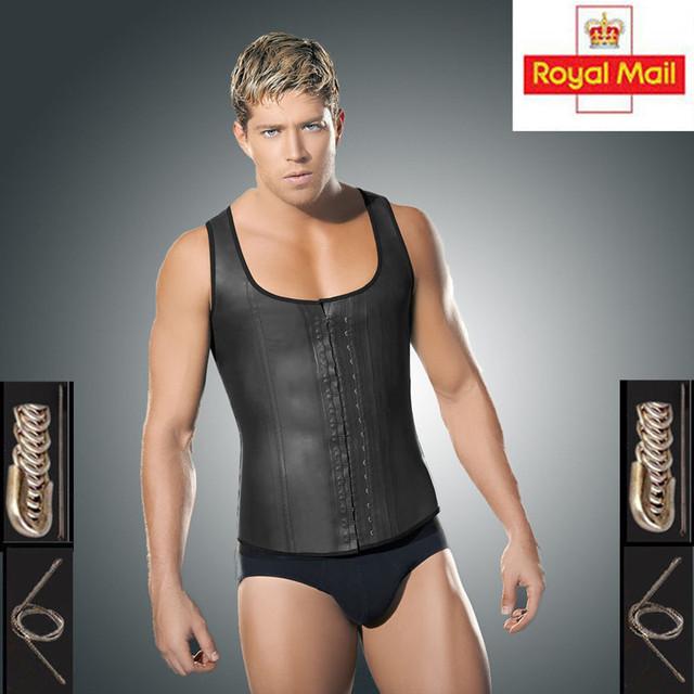 Caliente Más El tamaño chaleco faja de cintura para hombres de látex de cintura corsé de la talladora caliente cuerpo pérdida de peso delgada cintura trainer