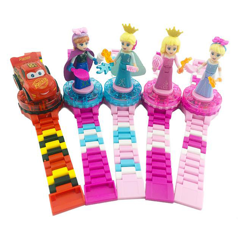 Cute Super Hero Watch Building Blocks Ninjagoed Minecrafted Rotate Figures Bricks Compatible LegoINLY For Xmas Children Gift Toy in Stacking Blocks from Toys Hobbies