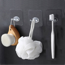 4Pcs/lot Self-adhesive Toothbrush Holder Wall Hook Plug Stand Toilet Shaver Storage Rack Bathroom Product Kitchen Accessories