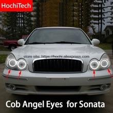 Anillo de luz Led blanca para Hyundai Sonata, luz de día Led COB 2002 2003 2004 2005, Ultra brillante