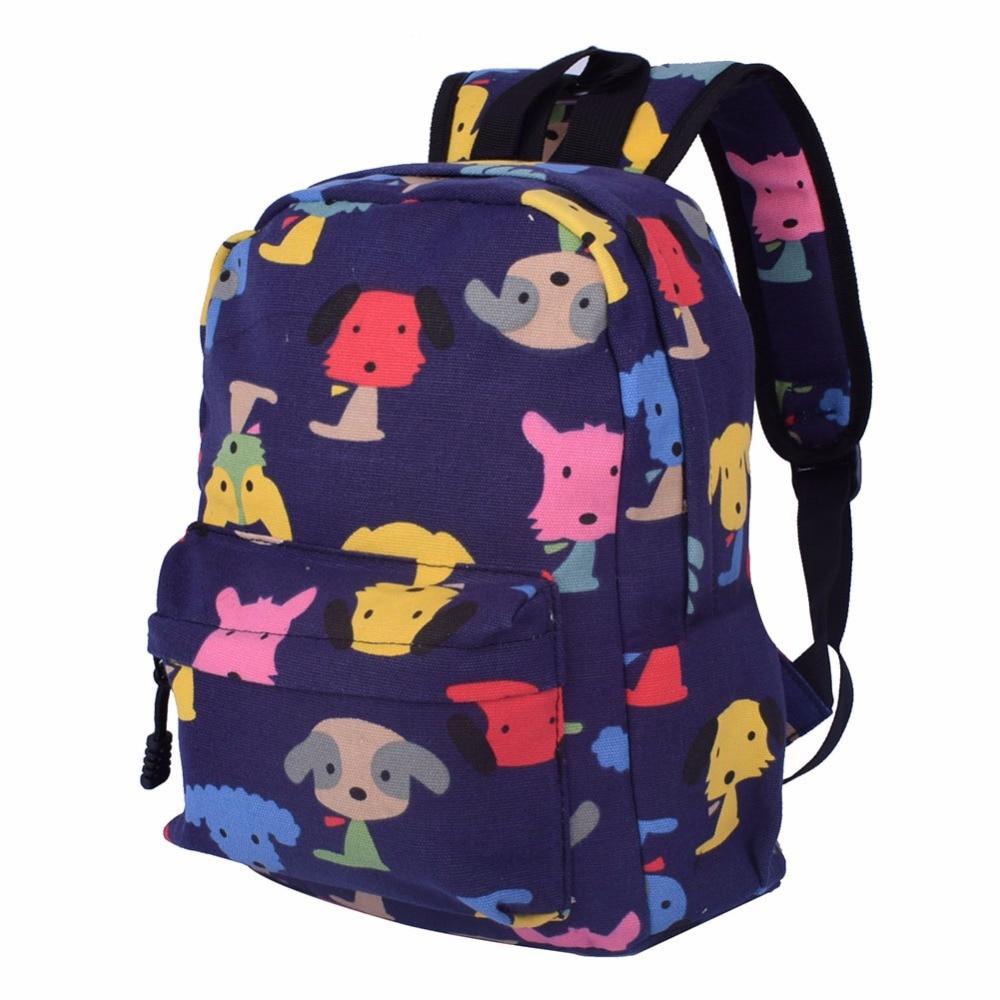 Klsyanyo От 1 до 3 лет дети детский сад Симпатичные холст школьная сумка узор Рюкзаки дети девушка мини-рюкзак