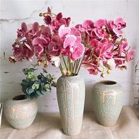 1 Set=7 flower branches +3 orchid stems,Butterfly Orchids Artificial Flowers Home Wedding Decoration flores fleur artificielle