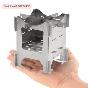 Image 4 - Lightweight Titanium Folding Wood Stove Outdoor Camping Stove Picnic Cooking Backpacking Furnace Outdoor Camping Stove