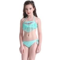 f9161aeaffd5 Children S Swimwear Girls Summer National Sytle Cute Beach Girl Bikini  Swimwear Separate Embroidery Bikini For. Meninas Swimwear das crianças do  Verão ...