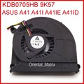 Original New KDB0705HB 9K57 DC5V 0.40A Cooler For Asus A41 A41I A41IE A41ID Laptop CPU Cooling Fan